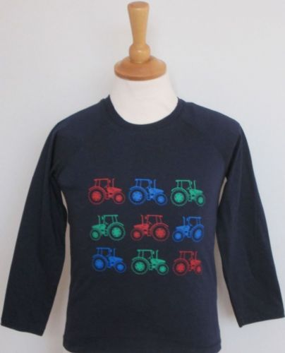 British Country Collection 'Lots of Tractors' Long Sleeve Tee